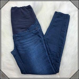* H&M Denim Maternity Skinny Stretch Blue Jeans *